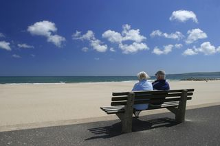 Elderly at beach