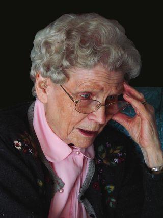 Older woman confused