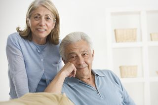 Elderly man and wife