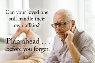 People - plan ahead before you forget